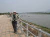 Jette at the Mekong River